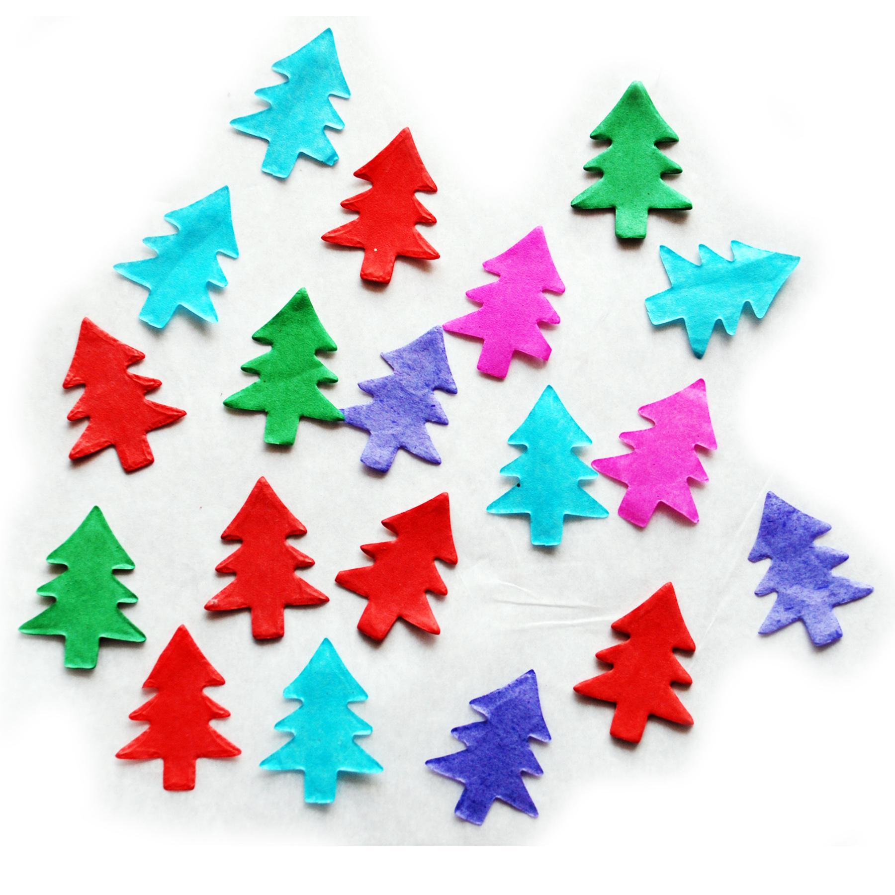 Flame Retardant Christmas Tree Shaped Colorful Paper Confetti_Confetti_T & B Promos LLC